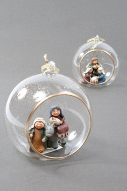 Nativity in Glass Ball