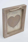 Small Wooden Heart Frame