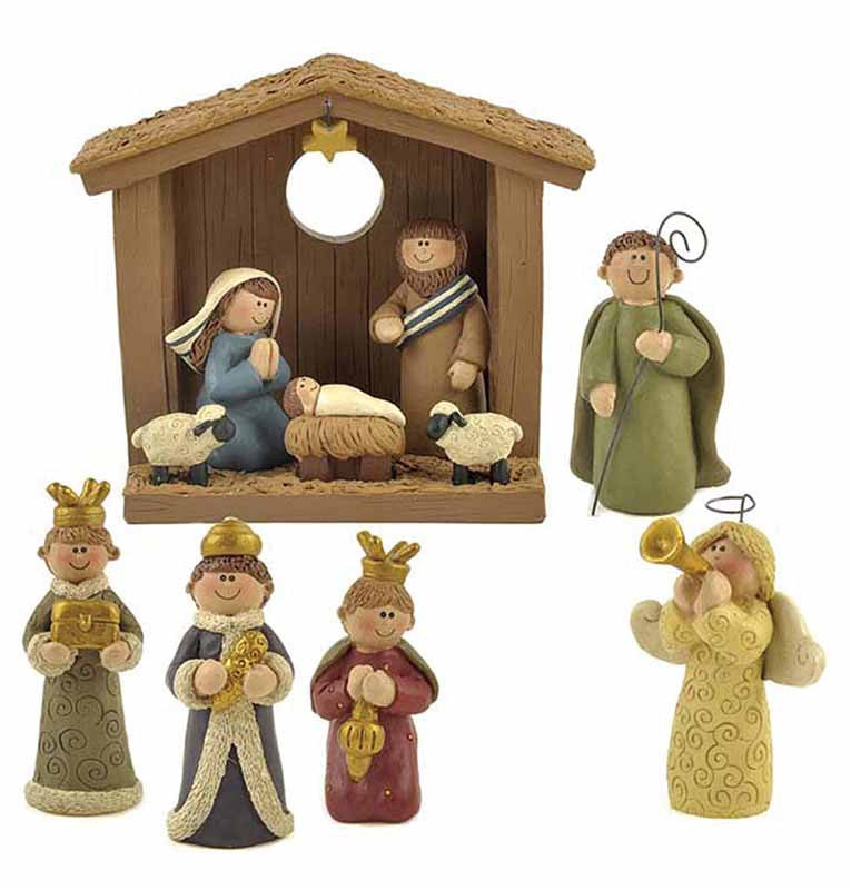 Miniature Nativity Set