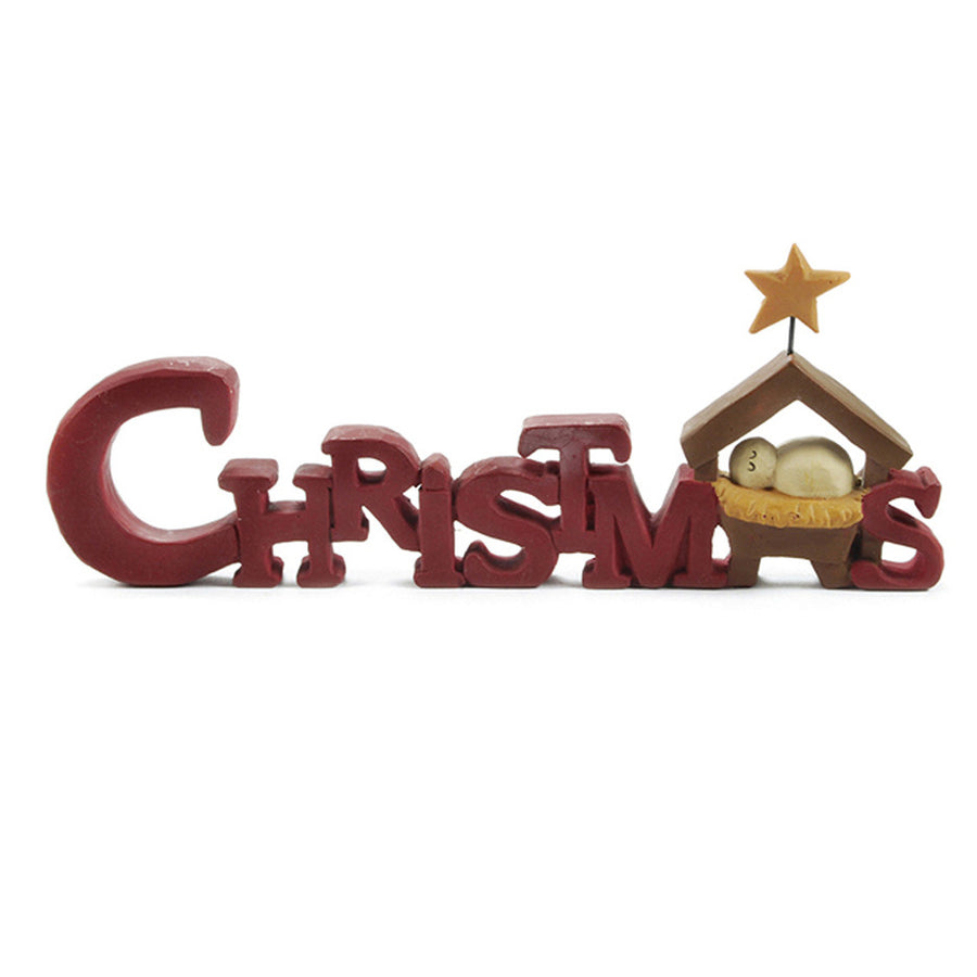 Mini Christmas Manger Sign