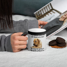 Load image into Gallery viewer, Romptastic My Human Leaves Me Changing Mug