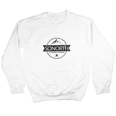 SONORTH Adult Crewneck Sweater - White