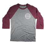 SONORTH Adult 3/4 Baseball Tee - Grey/Maroon