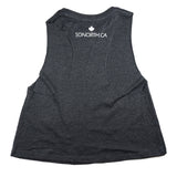 SONORTH Ladies Cropped Racerback Tank - Dark Grey