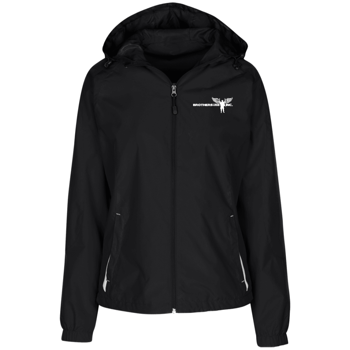 Ladies' - Brothers at Arms  - Lined Hooded Windbreaker