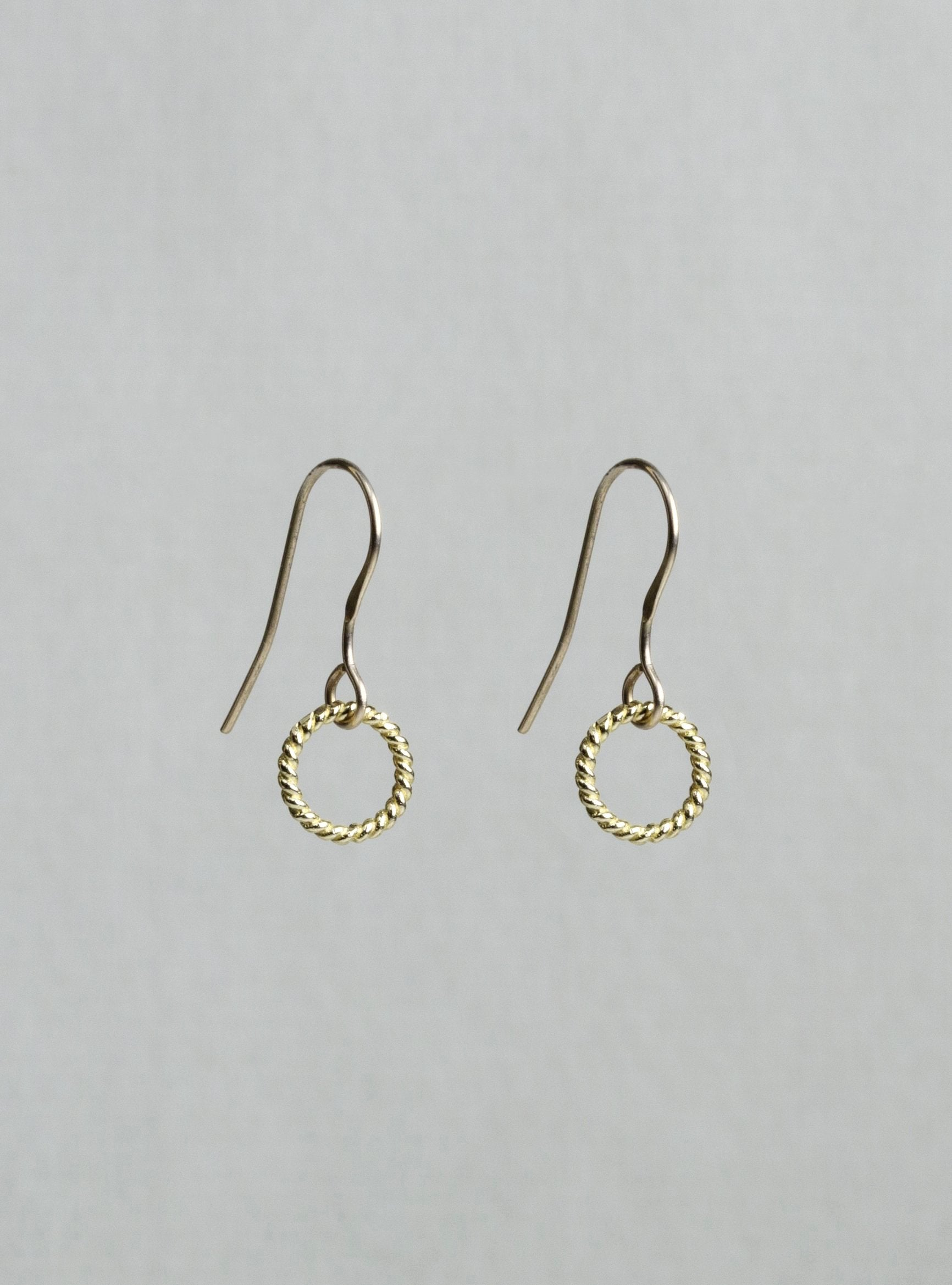 Mini Twist Gold Ring Earrings