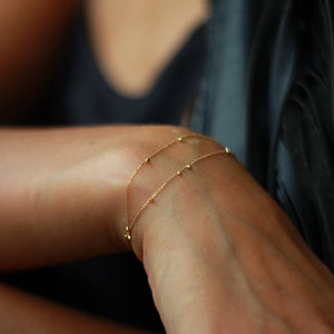 Gold Dust Double Strand Bracelet