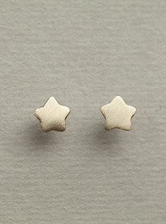 Alice Eden Super Star gold plated silver stud earrings