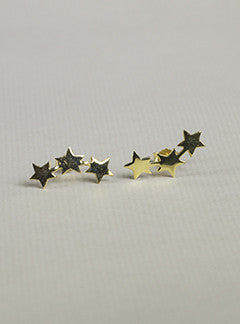 Anna+Nina Gold Plated Three Stars Stud