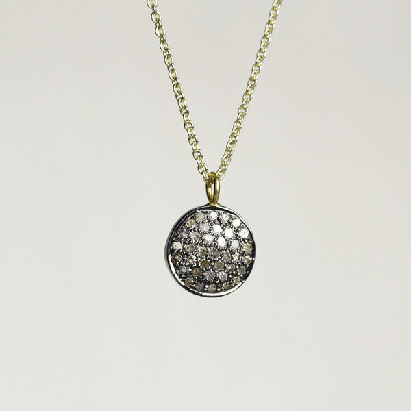 felt diamond disc necklace