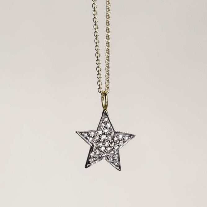 felt Affordable Diamond Range Large Diamond Star Necklace