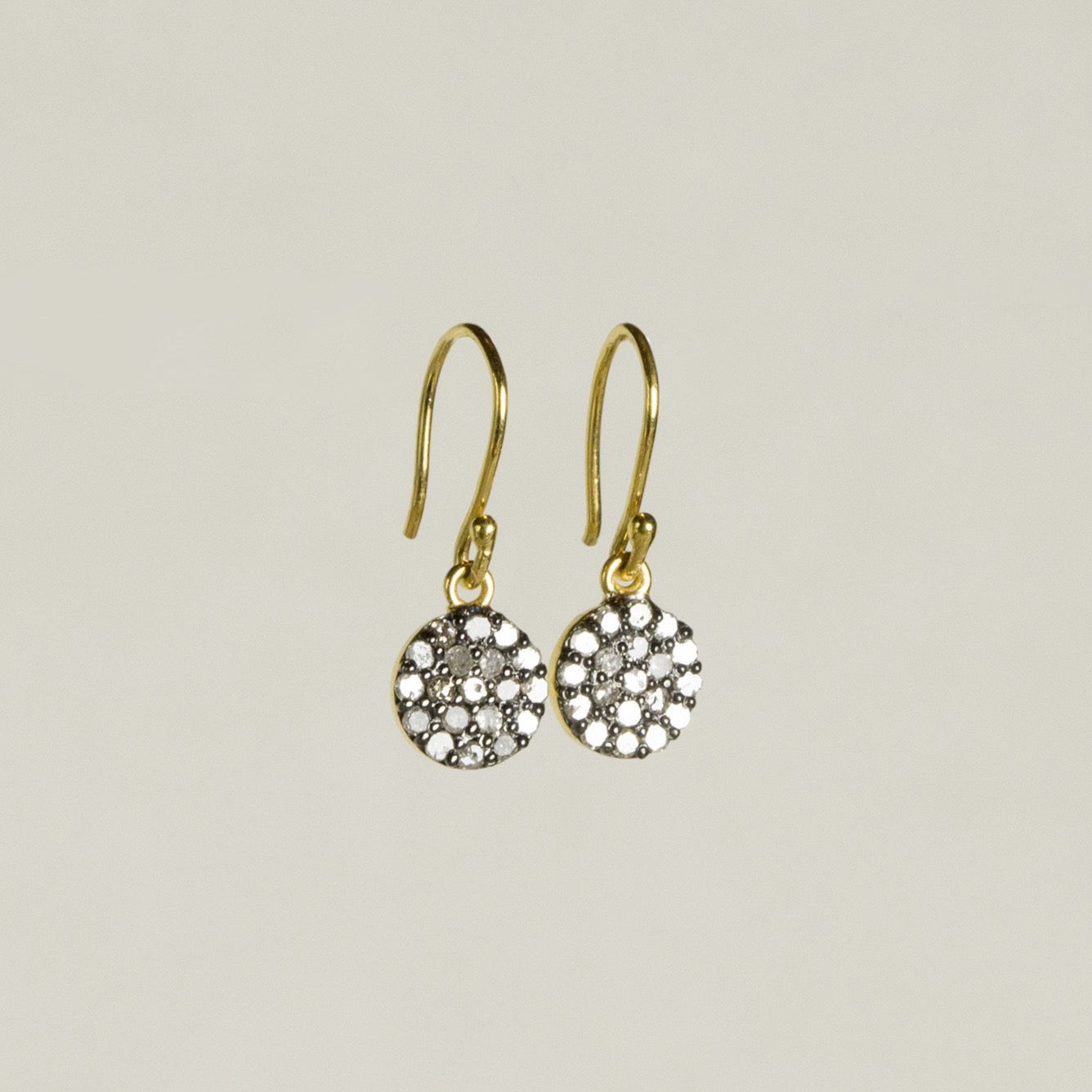 felt Affordable Diamond Range Disc Drop Earrings