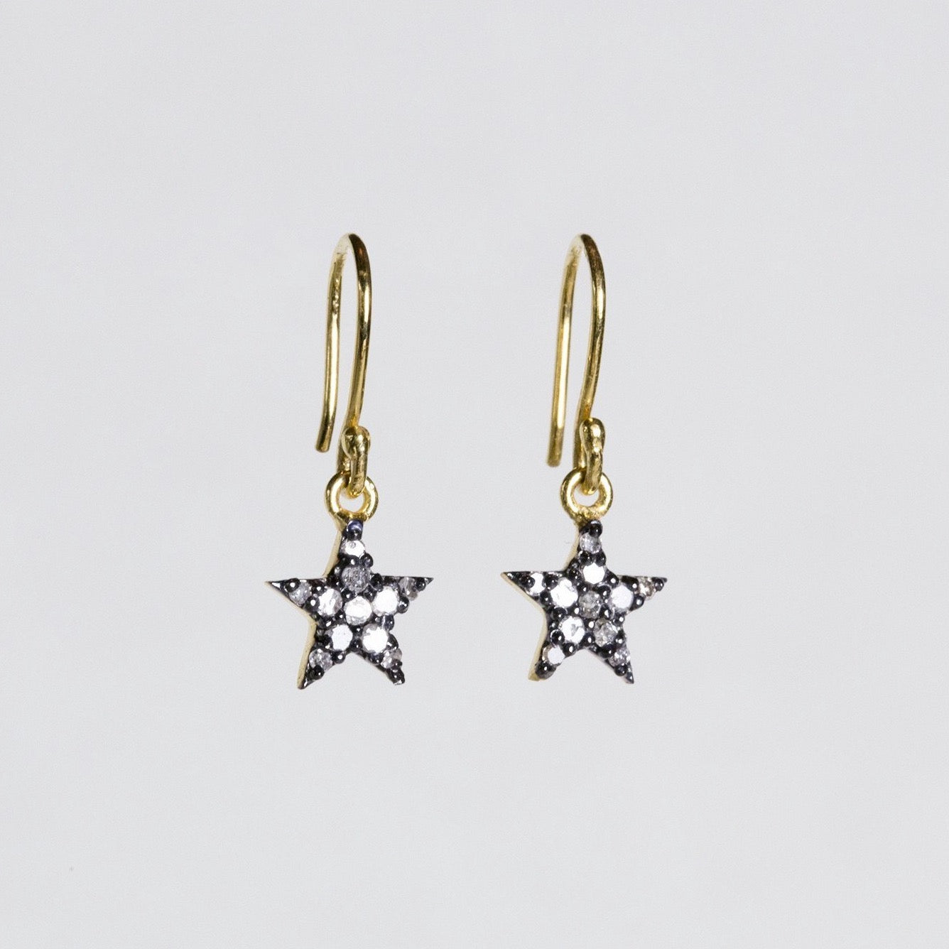 felt Affordable Diamond Range star drop earrings