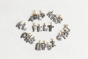 Diamond Letter A to Z Charms