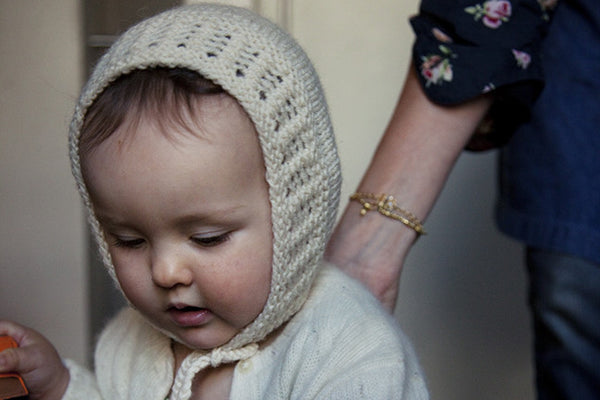 daisy bonnet presented on felt's youngest model