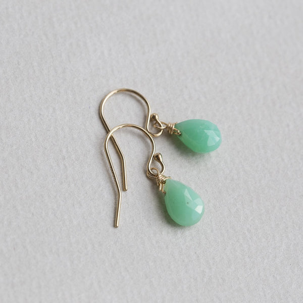 chrysoprase drops from up close