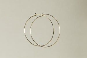 excellent large hoops made of square gold-filled wire