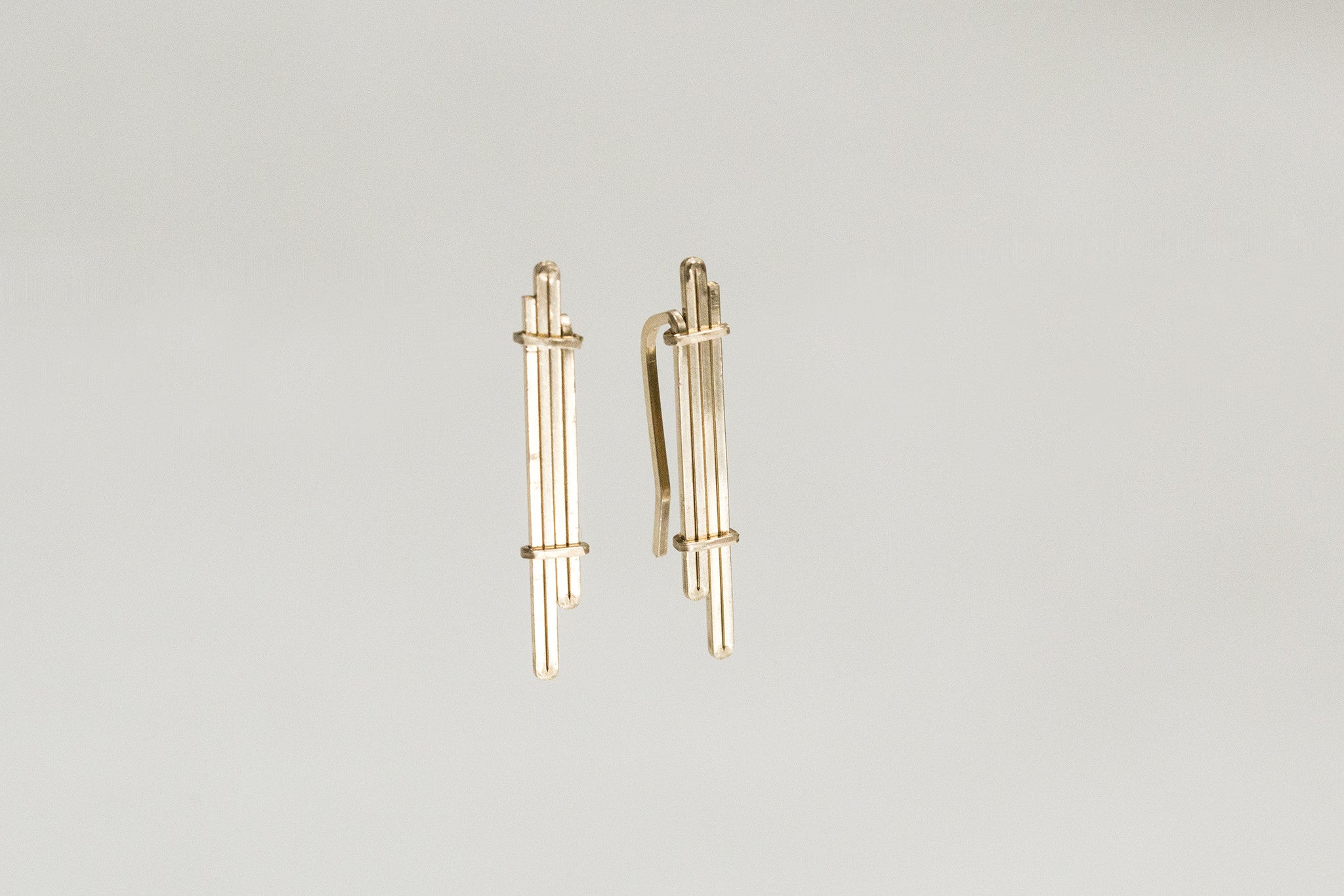 very popular and original ear cuffs with a subtle apperance of 14ct gold