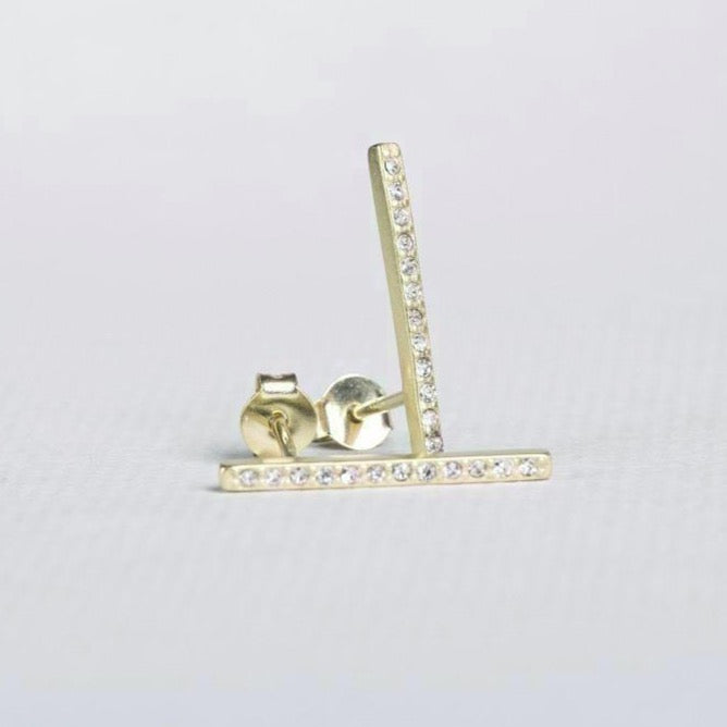 By Boe Sparkly Bar Stud Earring