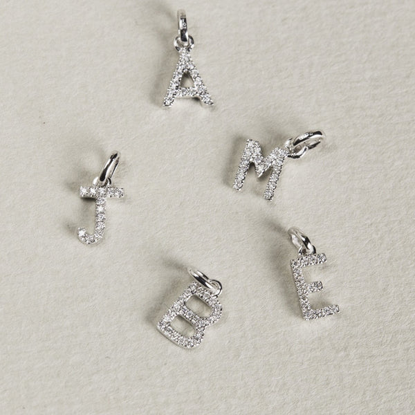 sweet small diamond letters with immense sparkle