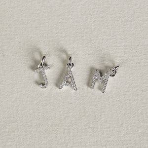 spell any word you like with these gorgeous diamond charms