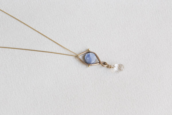 this necklace is delicate in form but has absolutely mesmerizing impact
