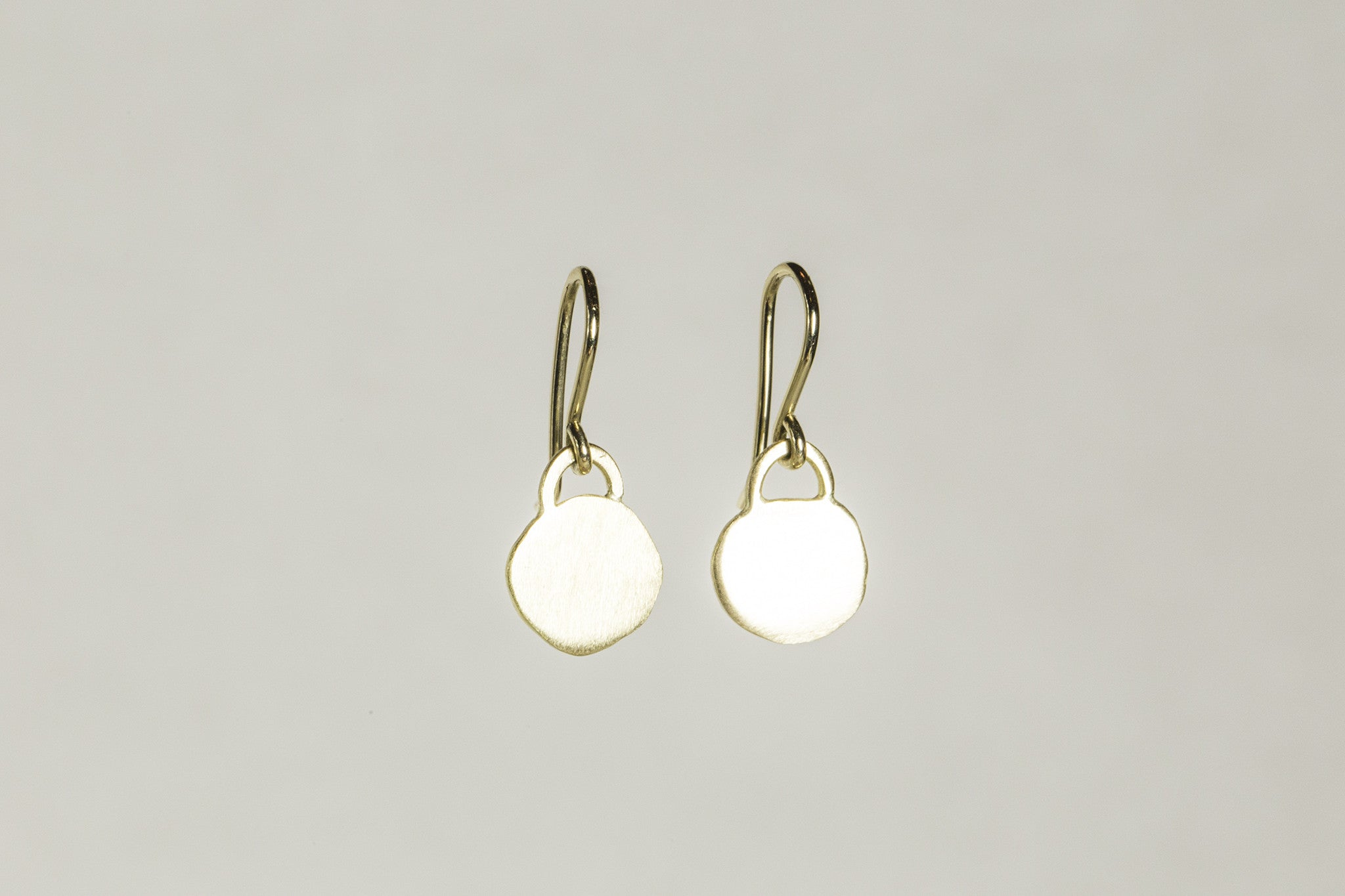 fantastically irregular disc drop earrings