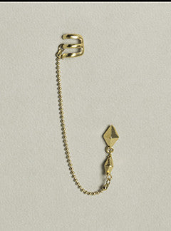 Sira Ryf Cuff, Stud and Chain Earring