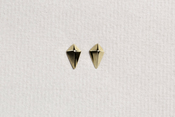 suitable for any occasion - diamond shaped gold studs