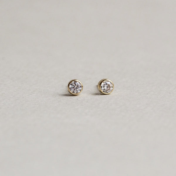 versatile real gold and crystal stud earrings