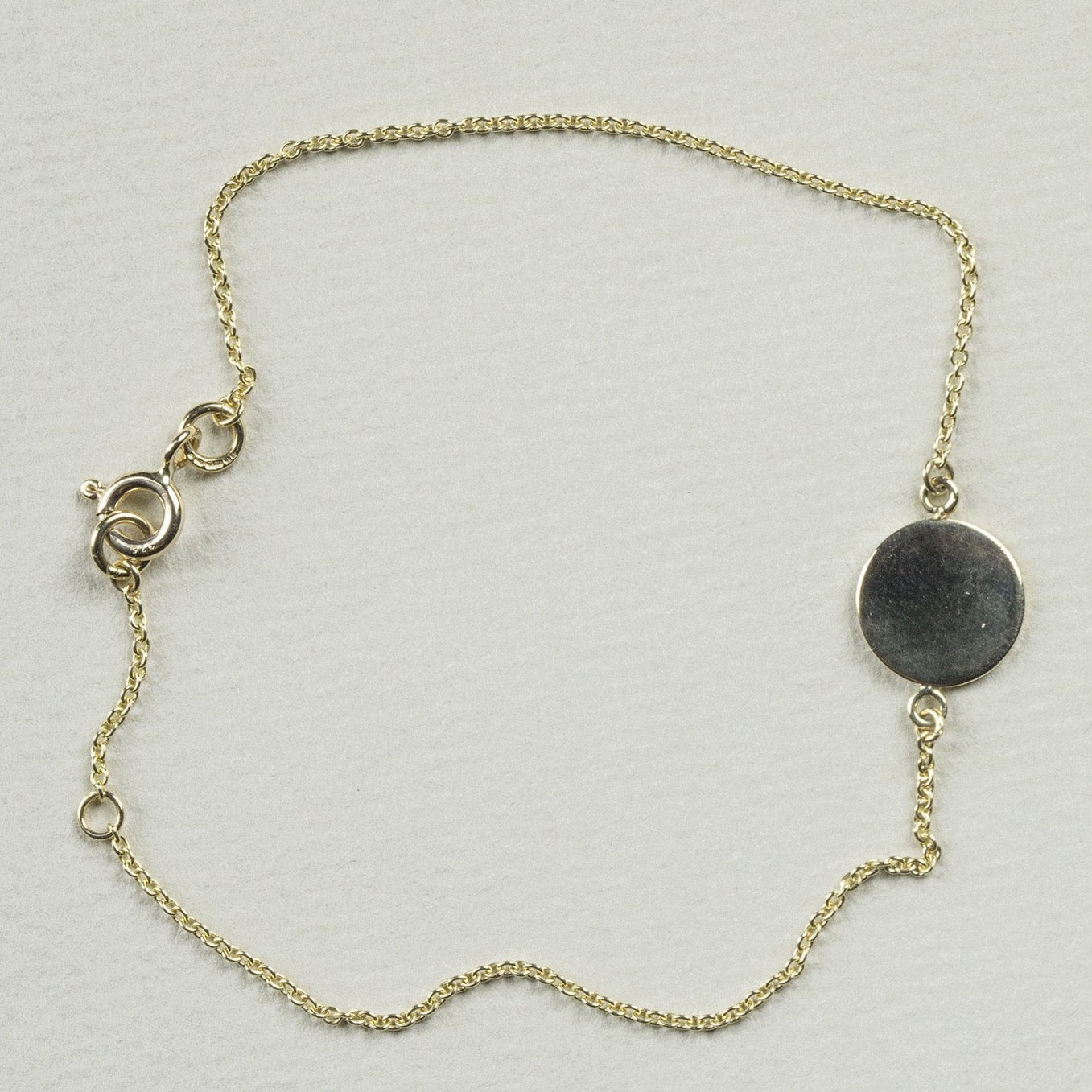 Simple Gold Disc Bracelet