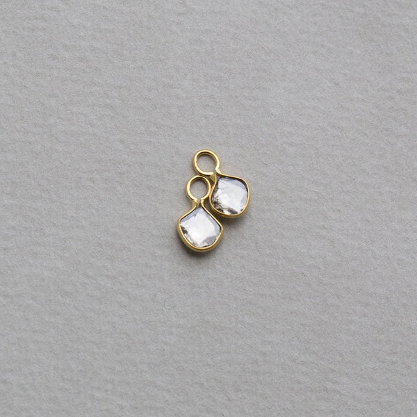 diamond slices earring charms made of 18 carat gold are part of our ever expanding earring charm collection
