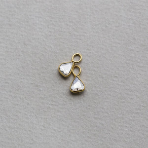 spectacular charm earrings - made especially for our plain hoops