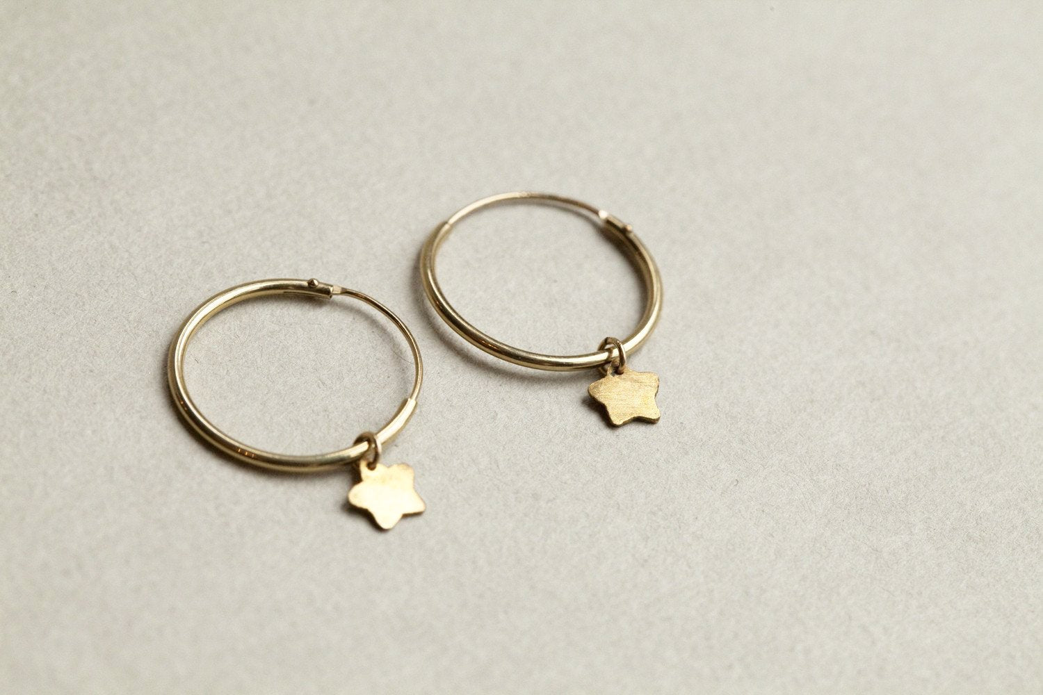 Alice Eden gold plated super star hoops, also available in 9 carat gold