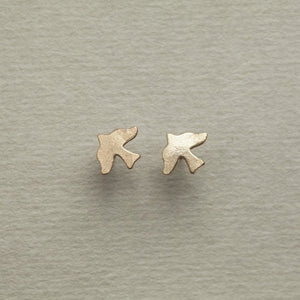 Alice Eden gold plated silver dickie bird stud earrings