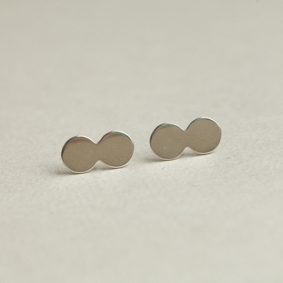 Double Disc Stud Earrings