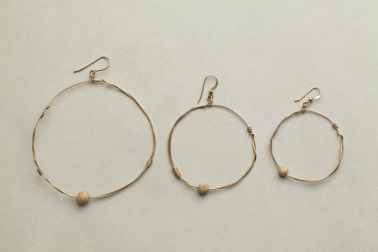 Mamacita gold filled wire hoop on hook earrings