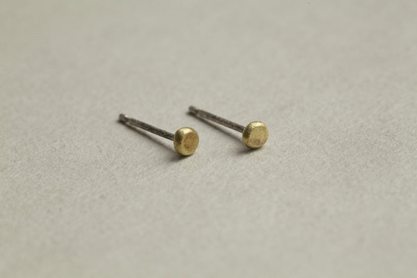 Emily Collins silver post and 18 carat gold pin stud earrings