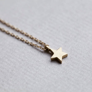 Tiny Cross, Star and Heart Necklaces