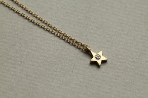 sweet diamond star necklace, also available in a non diamond version