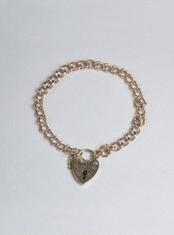 Vintage 9ct Gold Heart Bracelet