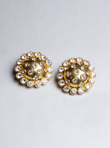 Vintage Chanel Clip-ons Earrings with Crystals