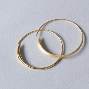 Gold Wrap Over Hoop Earrings
