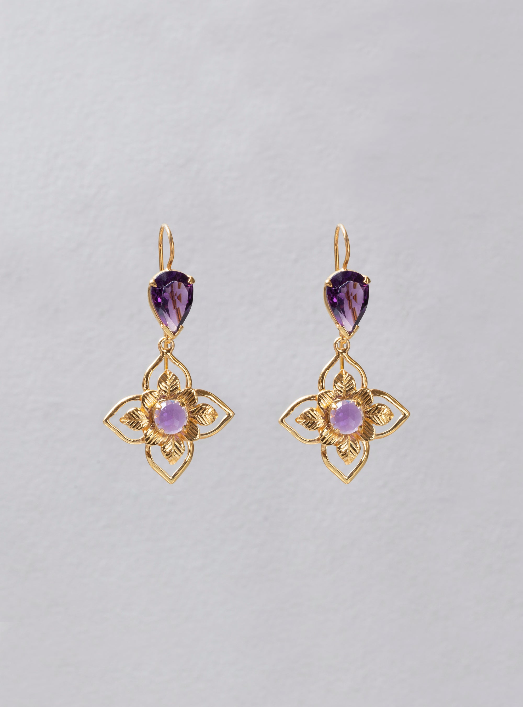 Teyah Amethyst Earrings