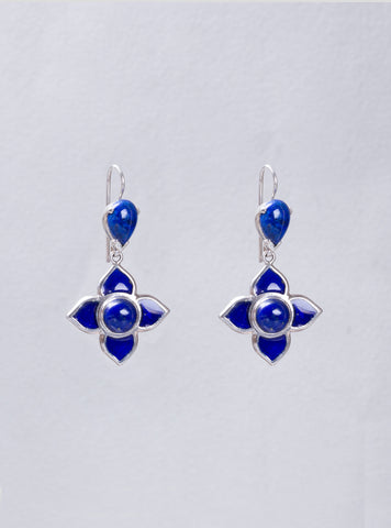 Toyah Blue Enamel Earrings