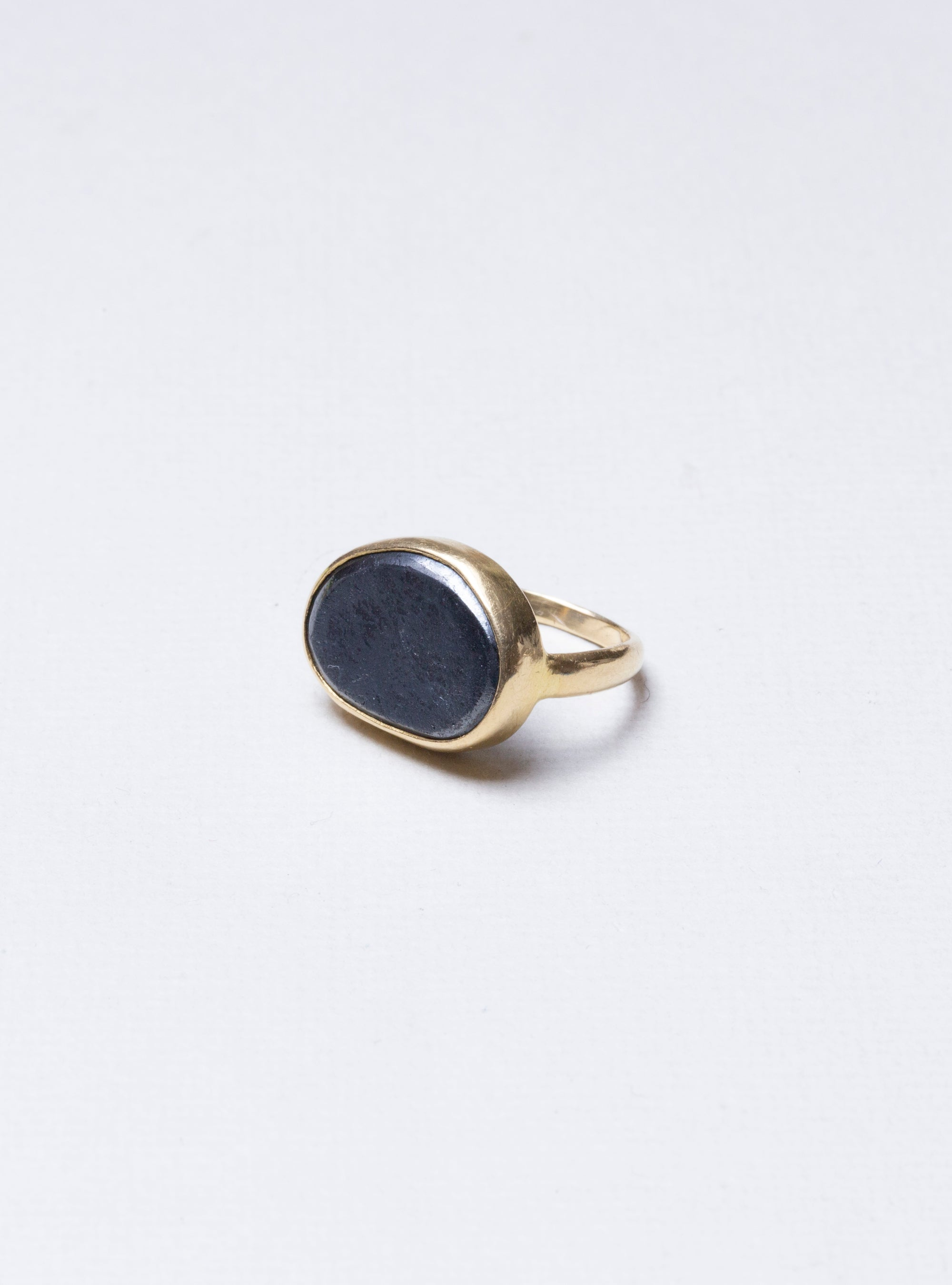 Hematite Greek Ring