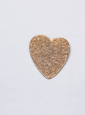Vintage Gold Heart Brooch