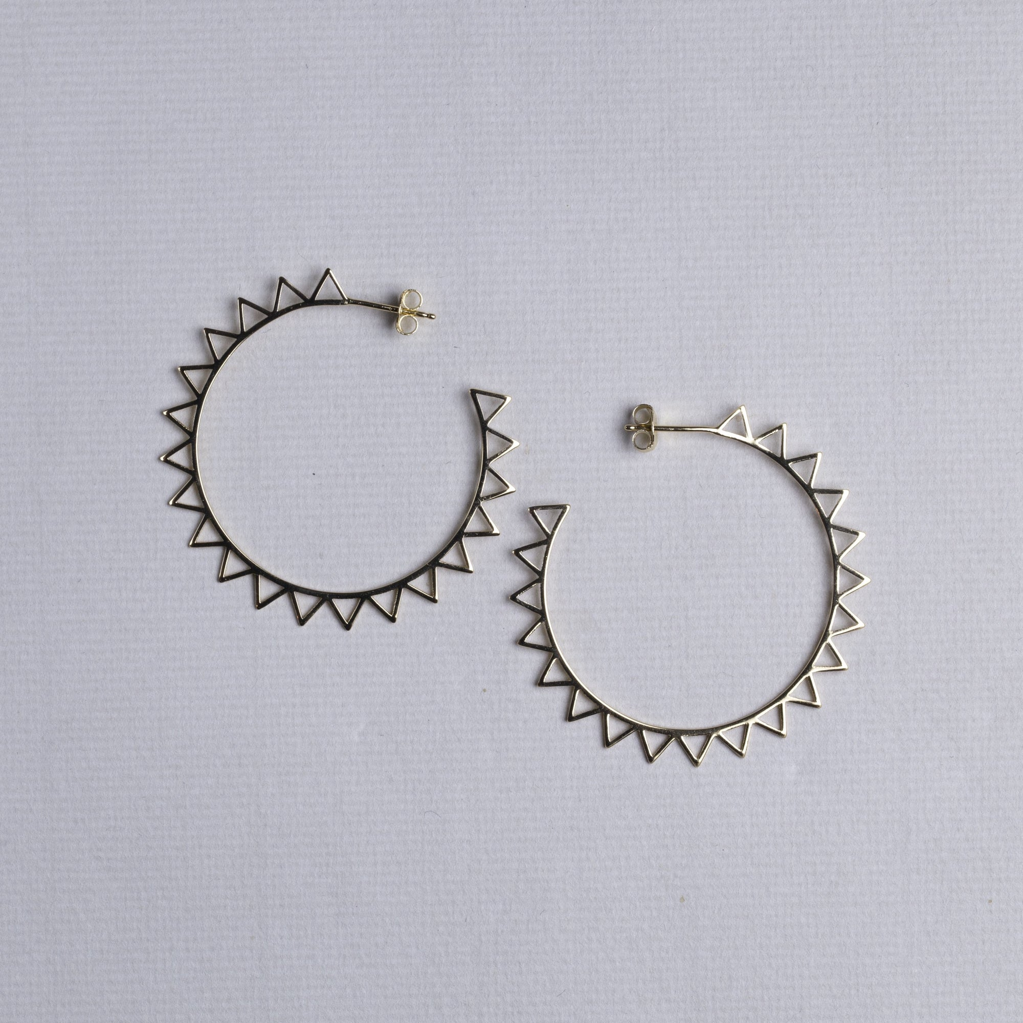 Geometric Cutout Sun Hoop Earrings