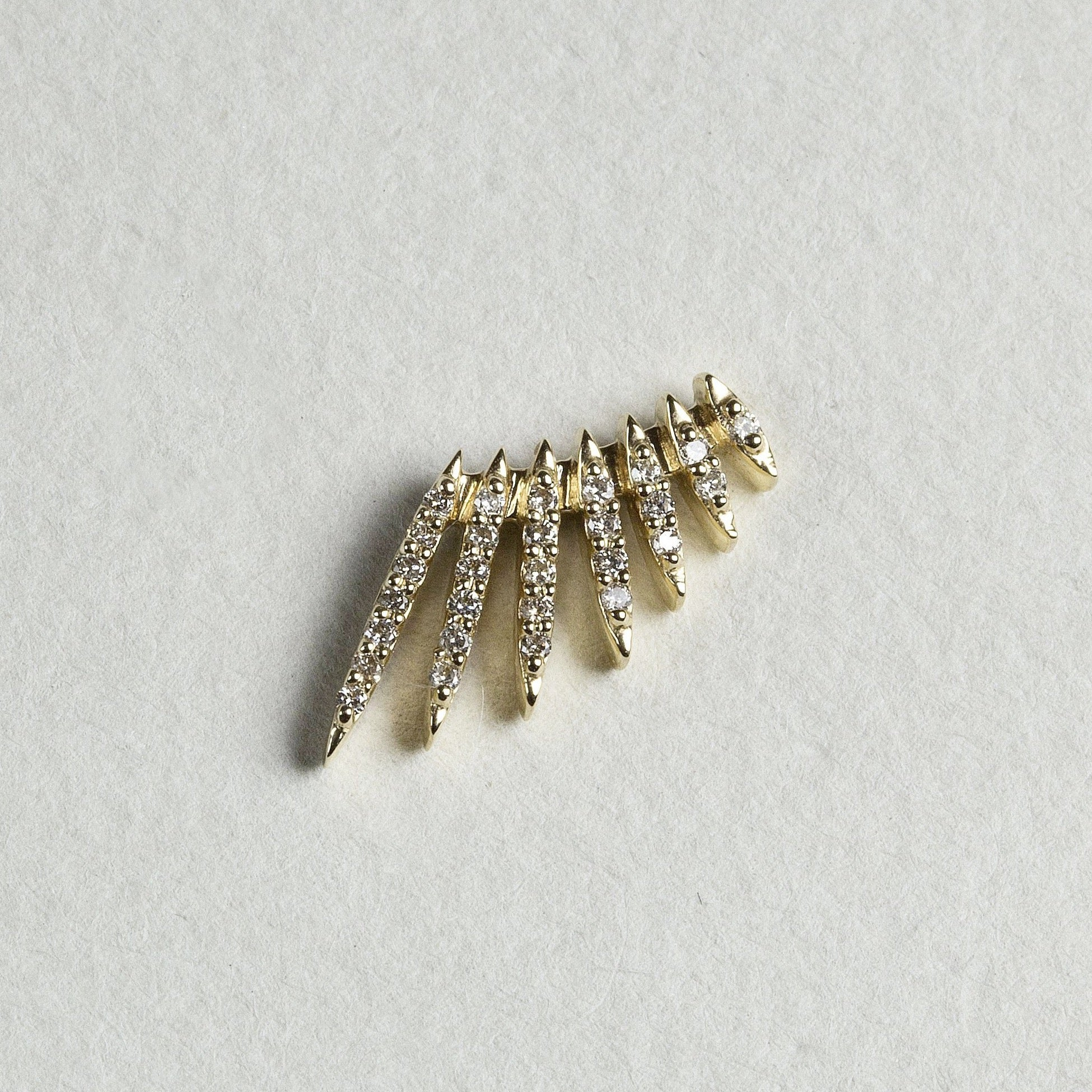 Diamond Wing Stud Earrings