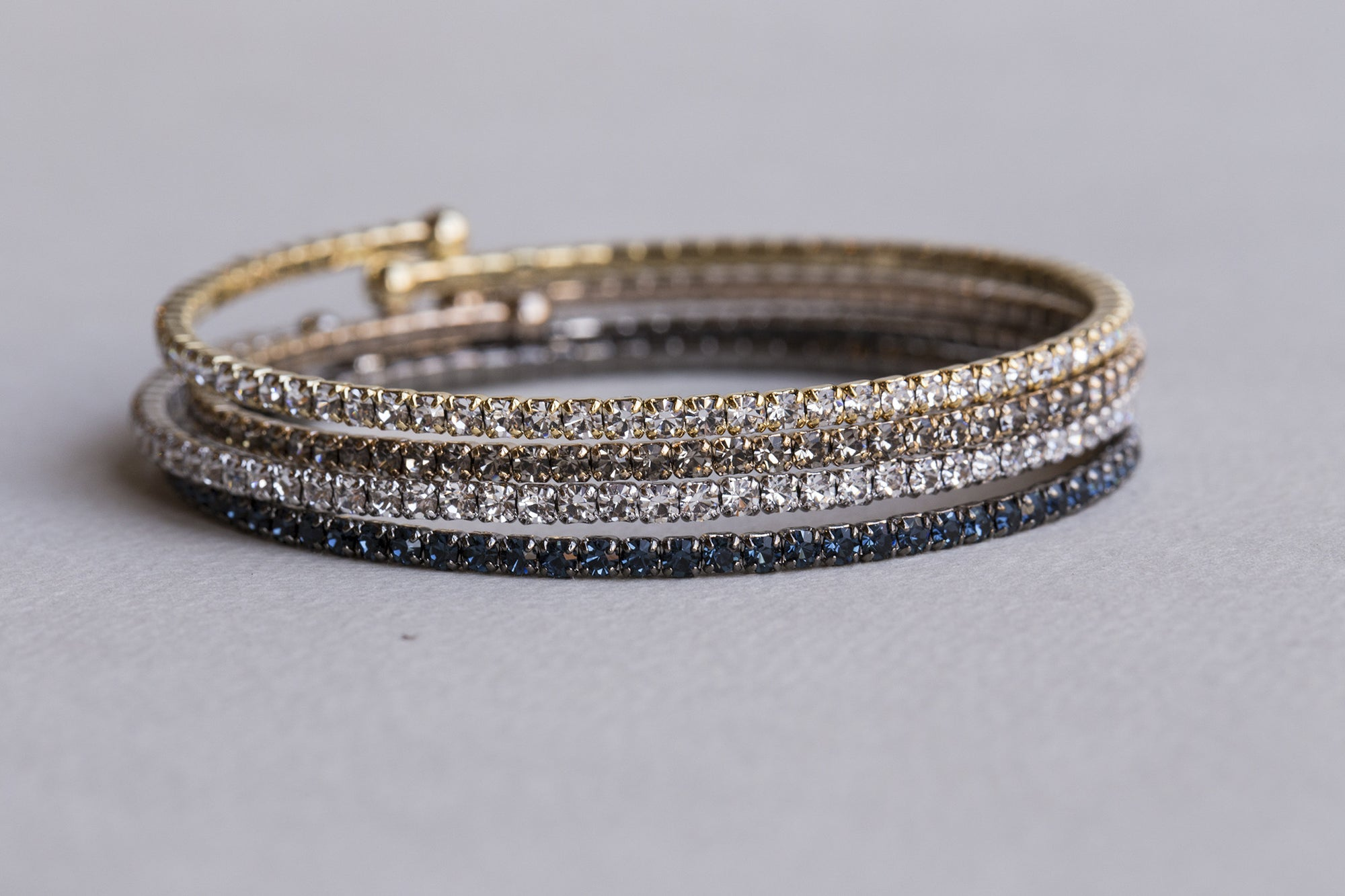 flexible and sparkly diamante bangles